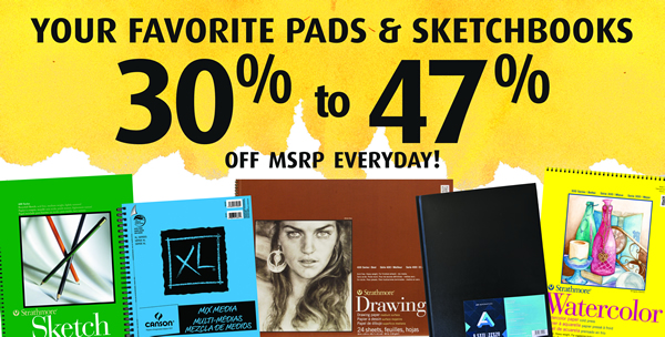 Everyday Discounts on Art Supplies